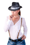 Cowboy woman. Stock Images
