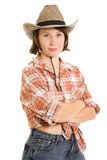Cowboy woman Royalty Free Stock Images