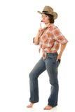 Cowboy woman. Royalty Free Stock Photo