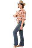 Cowboy woman. Stock Photo