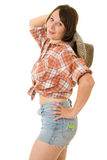 Cowboy woman. Stock Photos