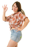 Cowboy woman. Stock Image