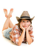 Cowboy woman. Stock Photography