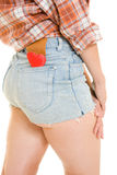 Cowboy woman with a heart in your pocket. Royalty Free Stock Photography