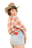 Cowboy woman with a heart in your pocket. Stock Photography