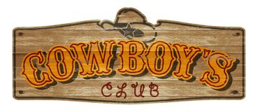 Cowboy Wooden Plaque Old Western Club Saloon Bar stock photo
