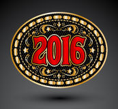 Cowboy 2016 year oval belt buckle design Royalty Free Stock Image