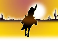 Cowboy in yellow Royalty Free Stock Images