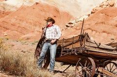 Cowboyande Arkivfoton
