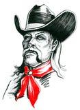 Cowboycharakter vektor abbildung