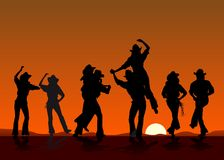 cowboydeltagare Royaltyfri Fotografi