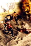 cowboydiorama royaltyfri bild