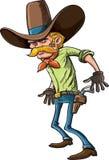 Cowboyen ordnar till för att dra Royaltyfri Fotografi