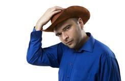 Cowboyen välkomnar dig Royaltyfri Foto