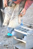 Cowboyfarrier het werken Stock Foto's
