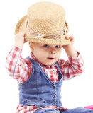 cowboyflicka little royaltyfri bild