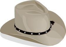Cowboyhat mit Ausschnittspfad Stockfotos