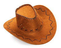 Cowboyhut lokalisiert auf dem weißen Hintergrund Lizenzfreies Stockfoto