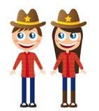 Cowboykarikatur Stockfotografie