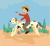 Cowboykids Royalty Free Stock Images