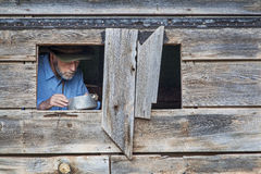 Cowboykochen Stockfoto