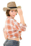 cowboykvinna Royaltyfri Bild
