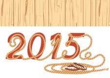 Cowboylasso 2015 år också vektor för coreldrawillustration Royaltyfri Foto
