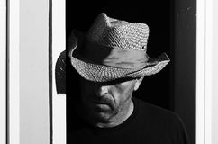 Cowboyporträt stockbild