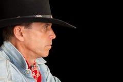 cowboyprofil Royaltyfria Bilder
