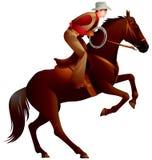 Cowboyrodeo 2 vector illustratie
