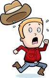 cowboyrunning Arkivbild