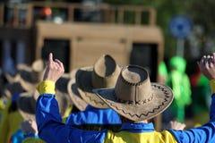 Cowboys dancing Royalty Free Stock Images