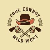 Cowboys emblem on a white background Stock Image