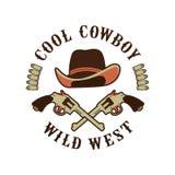 Cowboys emblem on a white background Stock Photo