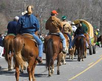 Cowboys et cow-girls Image stock