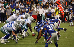 Cowboys Giants Romo Taking Snap Royalty Free Stock Images