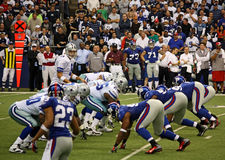 Cowboys Giants Romo Waiting for Snap Royalty Free Stock Photography