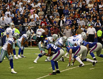 Cowboys and Giants with Tony Romo Stock Image