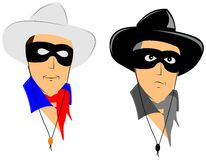 Cowboys. Good guys and bad guys from the old west Royalty Free Stock Photos