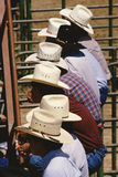 Cowboys in Hats at Rodeo. Cowboys hats, Rodeo competition, Gallup, New Mexico Stock Photo