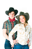 Cowboys kärlekshistoria Arkivfoto