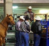 Cowboys met Cowboy Hats Stock Foto's