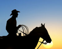 Cowboys Rides Away Stock Image