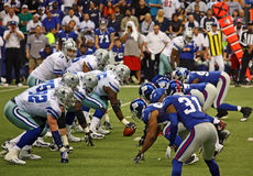Cowboys Romo Offense Face Giants Defense Royalty Free Stock Photo