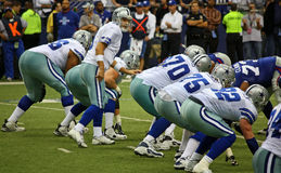 Cowboys Romo Offensive Line Royalty Free Stock Photography