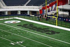 Cowboys STadium End Zone Interview Royalty Free Stock Photos