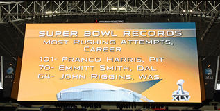 Cowboys Stadium Giant Scoreboard Stock Image