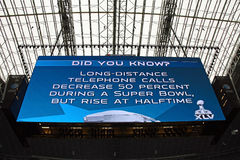 Cowboys Stadium Giant Scoreboard Stock Images