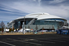 Cowboys Stadium From Parking Lot Stock Photography