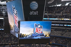 Cowboys Stadium Scoreboard Video Screen Stock Photo